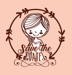 save the date wedding vector image