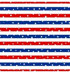 Seamless striped pattern with stars vector image
