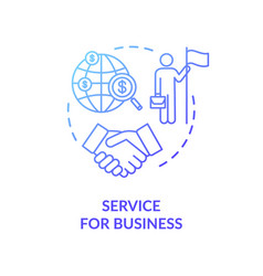 Service for business concept icon vector