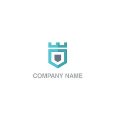 shield protect business company logo vector image