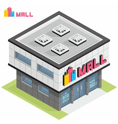 Shopping Mall building vector