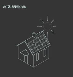 solar energy power icon line element vector image