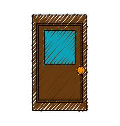 Store door isolated icon vector