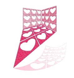 Structure of hearts holes vector image