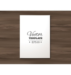 template blank paper sheet on a wooden vector image