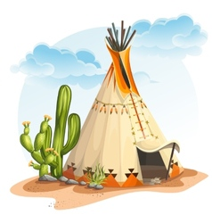 The north american indian tipi vector