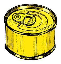 Tin can vector