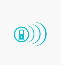 touch screen locked icon click symbol vector image