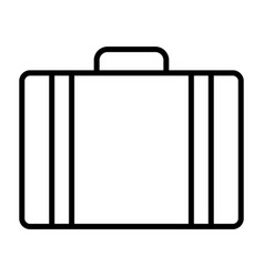 travel bag pointer line icon minimal pictogram vector image