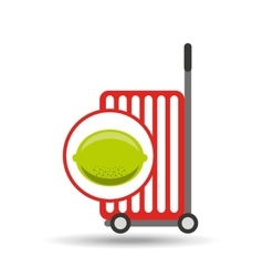 Trolley shop juicy lemon fruit vector