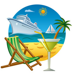 tropical journey and resort vector image