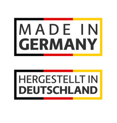 two quality marks made in germany colored symbol vector image