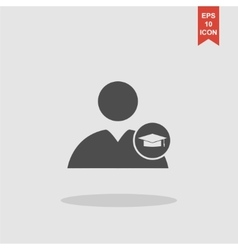 User icon Graduation cap vector image