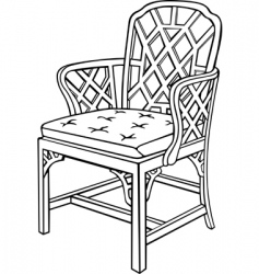 vector chair vector image