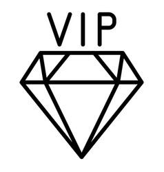 Vip diamond icon outline style vector