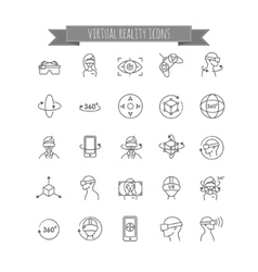 Virtual and augmented reality icon set vector