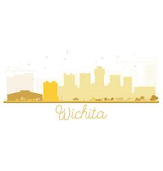 Wichita city skyline golden silhouette vector