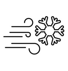 Windy blizzard icon outline style vector