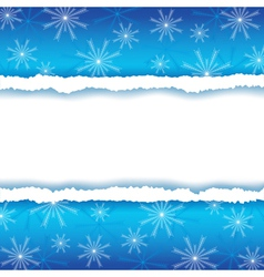 Winter frame with paper and snowflakes vector image