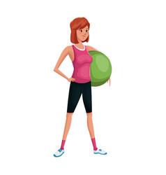 woman cartoon icon vector image