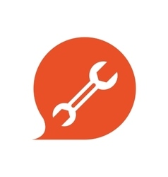 Wrench tool repair contruction icon vector