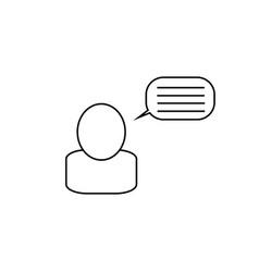 blog blogger icon vector image