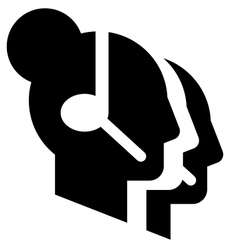 Call center icon vector image vector image