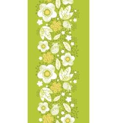 Green kimono florals vertical seamless pattern vector image vector image