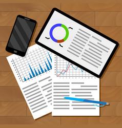 infographics exchange statistics vector image vector image