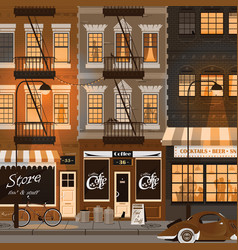 old city street night landscape vector image vector image