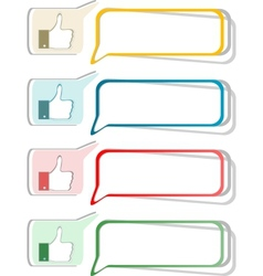 Paper thumb up like hand symbol set of design vector image vector image