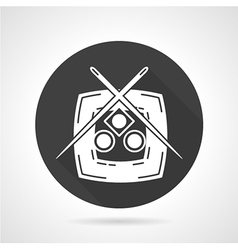Plate with sushi black icon vector image