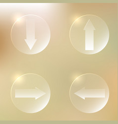 set of glassy arrows icons set of glassy arrows vector image vector image