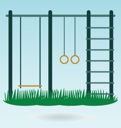 Childrens playground with swings vector image vector image