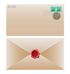 envelope brown vector image