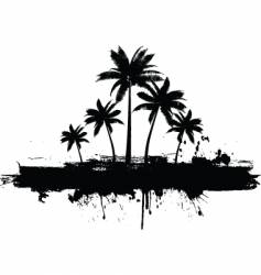 grunge palm trees vector image vector image