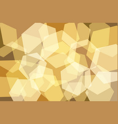 orangeyellow gold hexagon abstract background vector image vector image