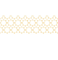 Abstract textile golden suns geometric horizontal vector image vector image