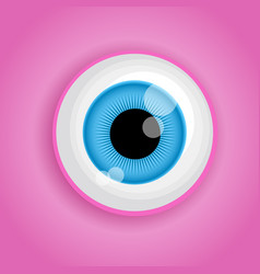 background with cartoon monster eye in pink colors vector image