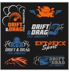 Drift Drag racing Tuning Motor Sport - Set of vector image