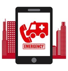emergency concept vector image vector image
