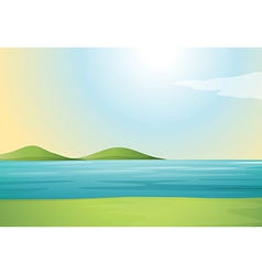 river and hills vector image vector image