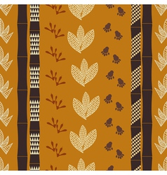 Seamless pattern with Tribal drawing vector image vector image