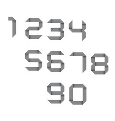 simple set of origami numbers vector image