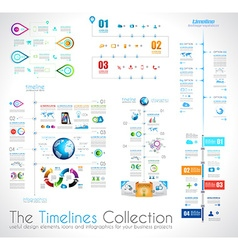 Timeline Infographic design template with paper vector image