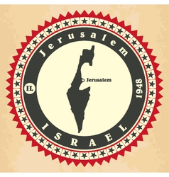 Vintage label-sticker cards of Israel vector image vector image