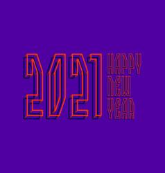 2021 happy new year orange blue wireframe 3d vector