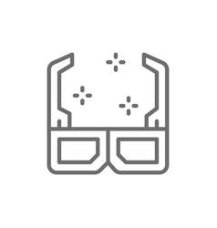 3d cinema glasses line icon vector image