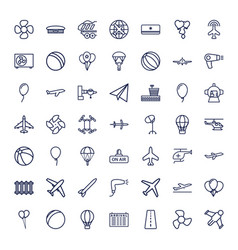49 air icons vector