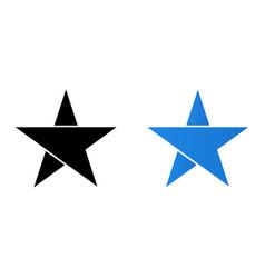 abstract stars logo vector image